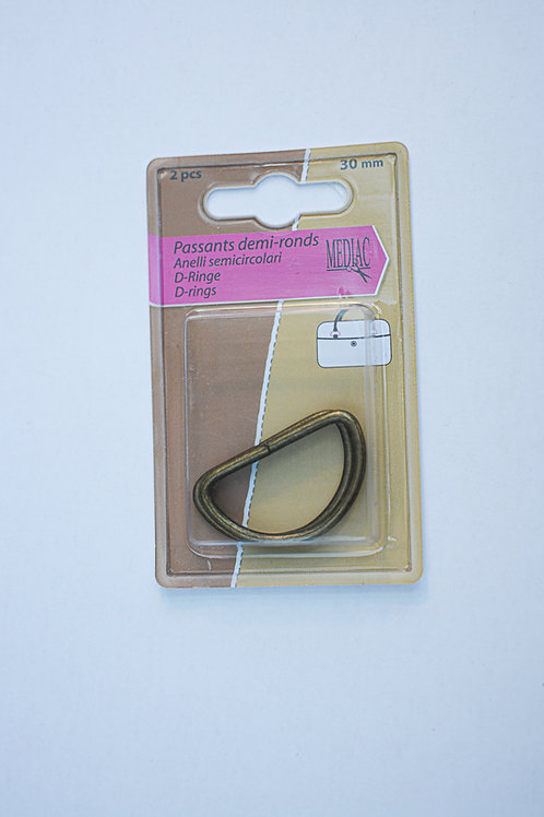 D-ring passant brons 30mm