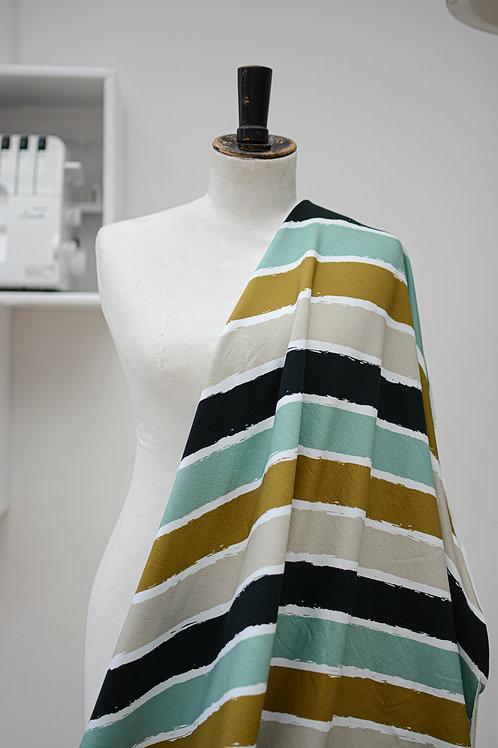 Sweaterstof kleurige strepen