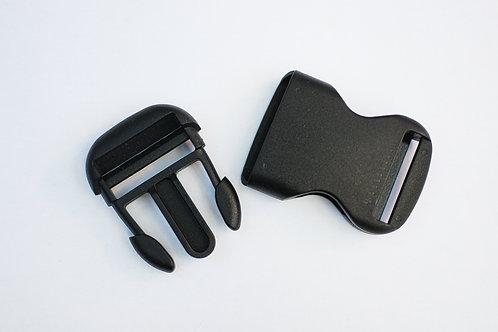 Klikgesp zwart 30mm plastic