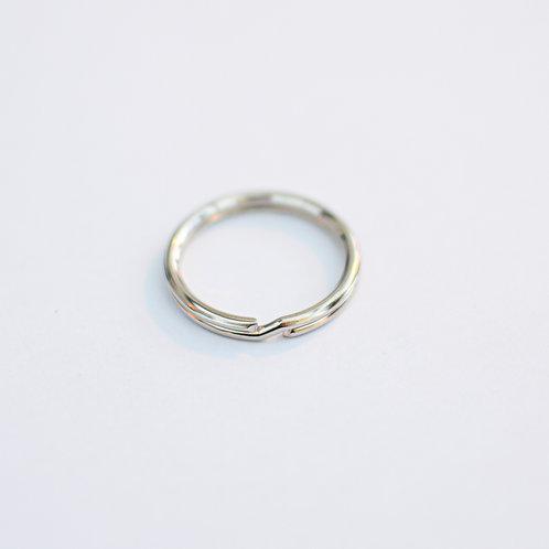 Sleutelhanger ring zilver 25mm