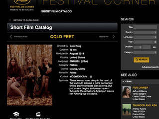 "2015 Cannes Short Film Corner - ""Cold Feet"""