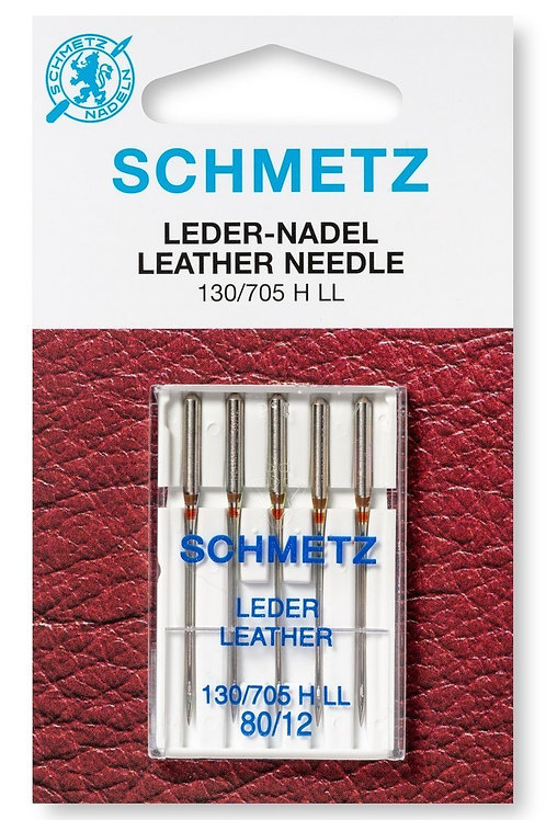 Leer machinenaalden Schmetz - leder 80-90-100 (130/705)