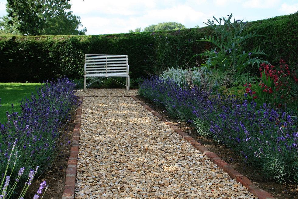 lavender hedge tythorne garden design