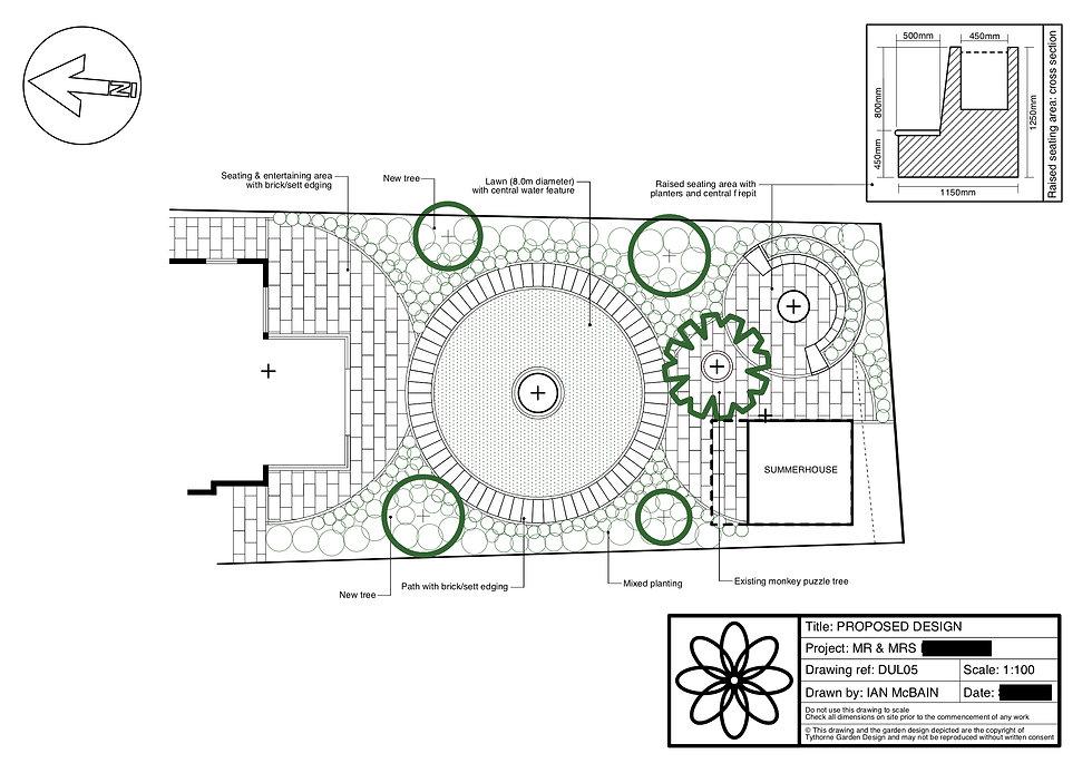 garden design grantham design plan Tythorne Garden Design