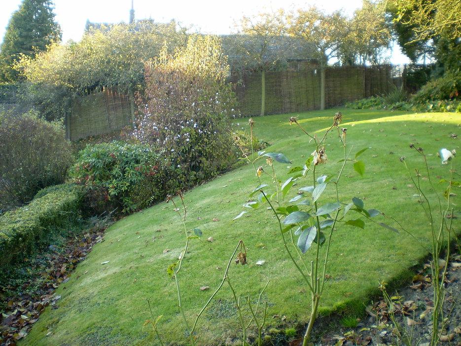 garden design with level changes Tythorne garden design