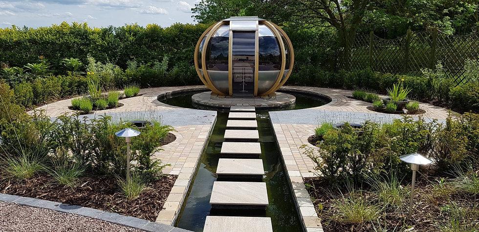 grantham garden design summerhouse Tythorne Garden Design