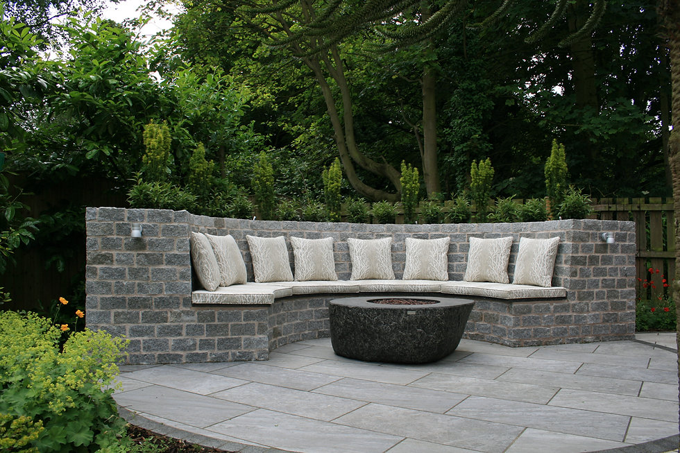 grantham garden design seating Tythorne Garden Design