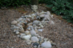 pebble water feature Tythorne Garden Des