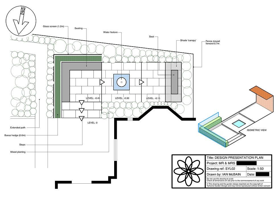 garden design stamford design plan Tythorne Garden Design