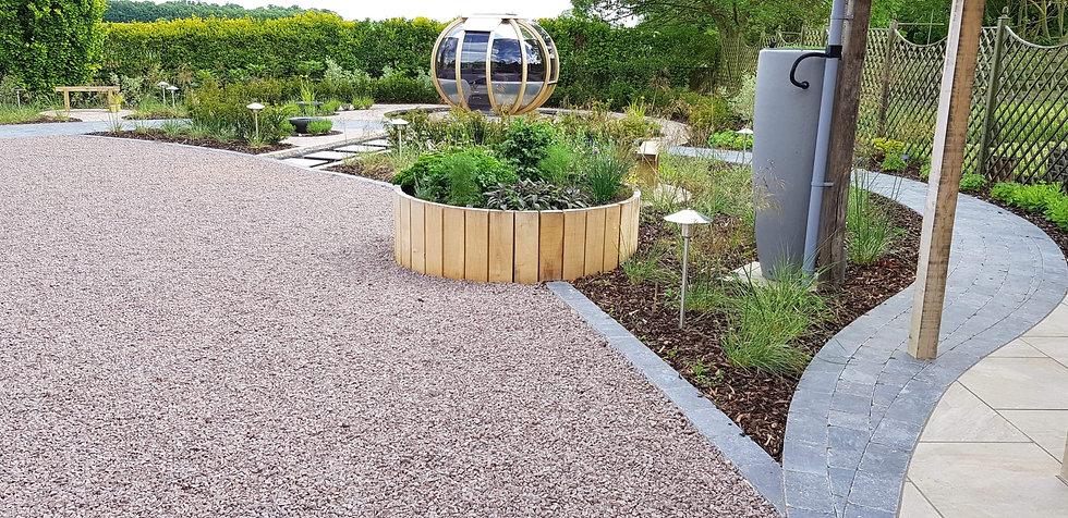 grantham garden design oak planter tythorne garden design