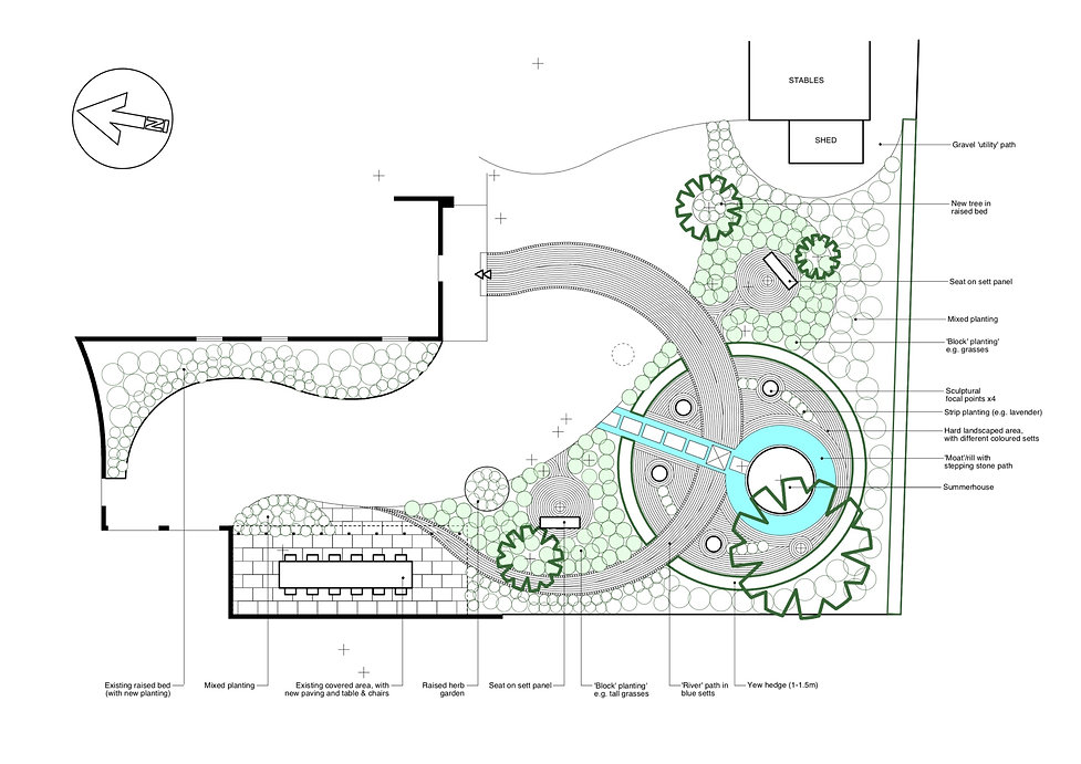 grantham garden designer plan tythorne garden design