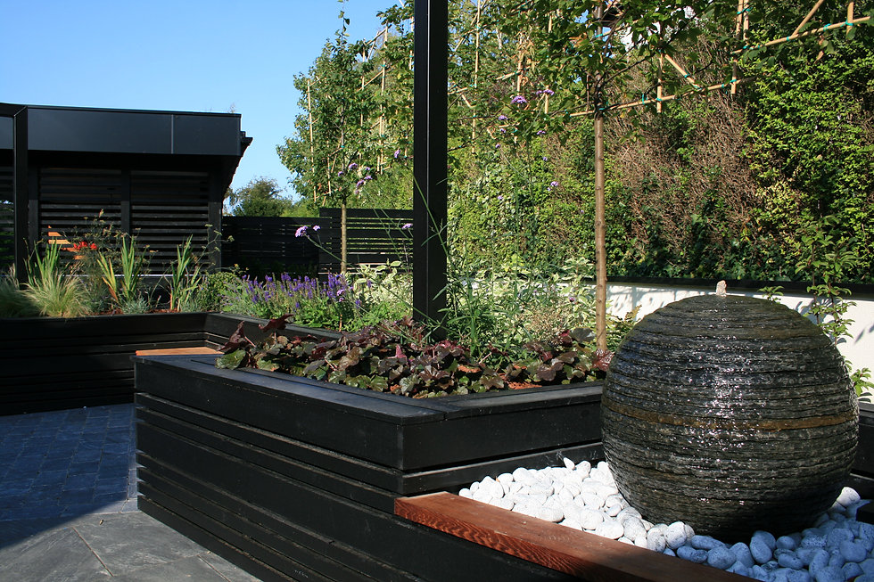tgd grantham garden design water feature
