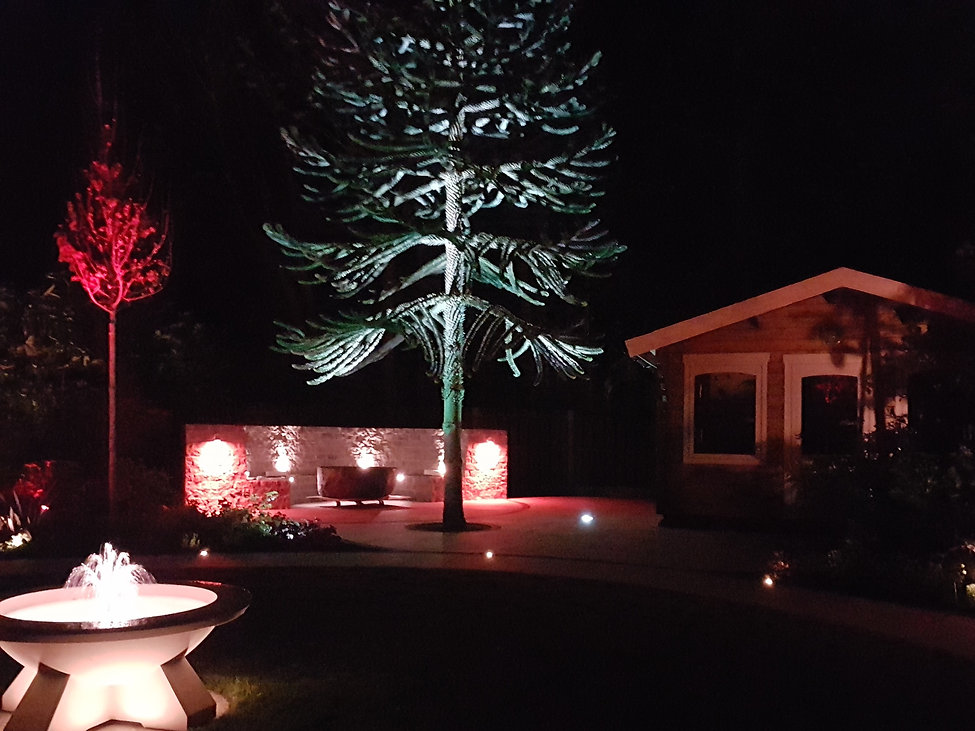 grantham lighting design Tythorne Garden Design