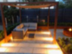 lighting design stamford garden design Tythorne Garden Design