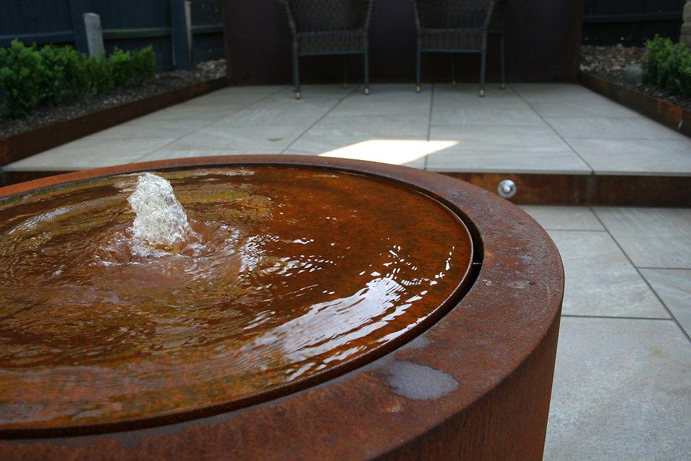stamford garden design water feature Tythorne Garden Design
