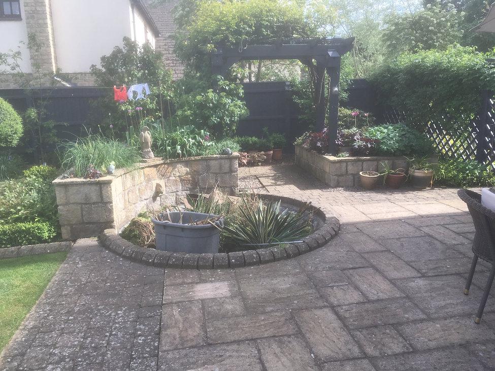 stamford garden designer before the design Tythorne Garden Design