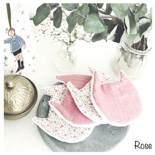 Coton Lavable Chat Rose