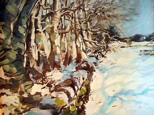 Wood Edge with Snow