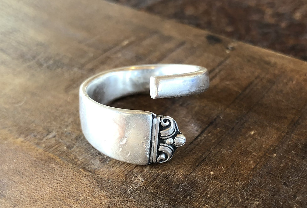 Sterling Wrap-Style Spoon Ring