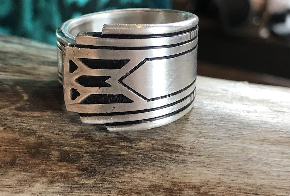 Aztec Style Ring