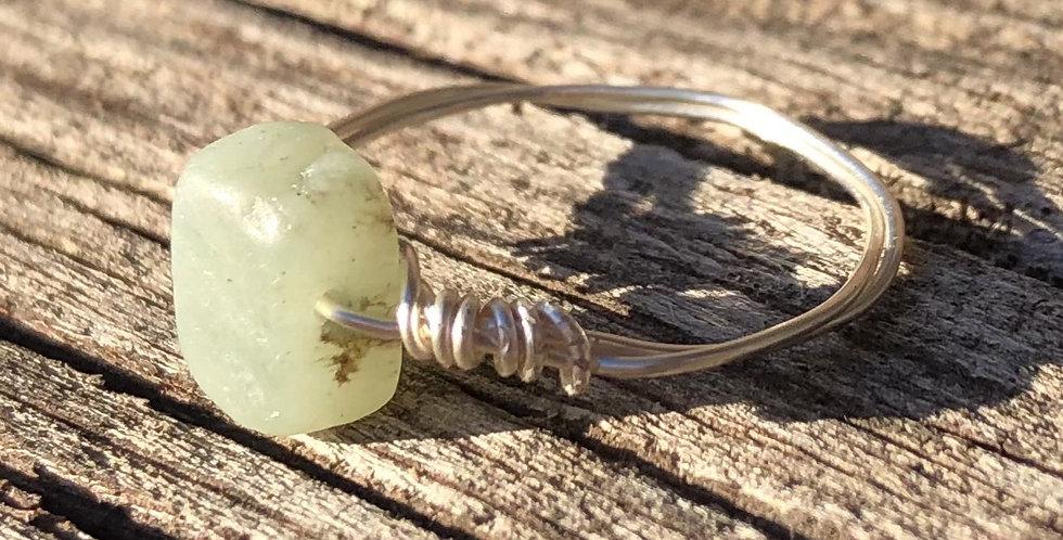 Emerald Green Stone Ring