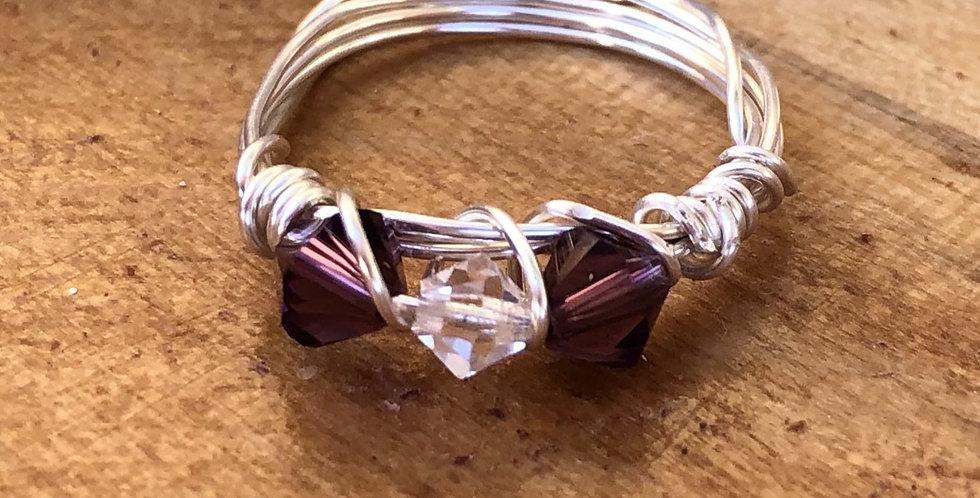 Purple & White Gems