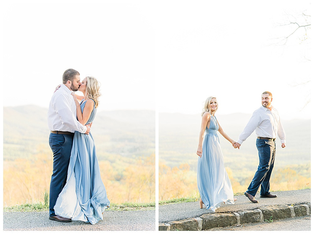 blue ridge mountains, blue ridge parkway engagement session, Virginia engagement wedding photographer