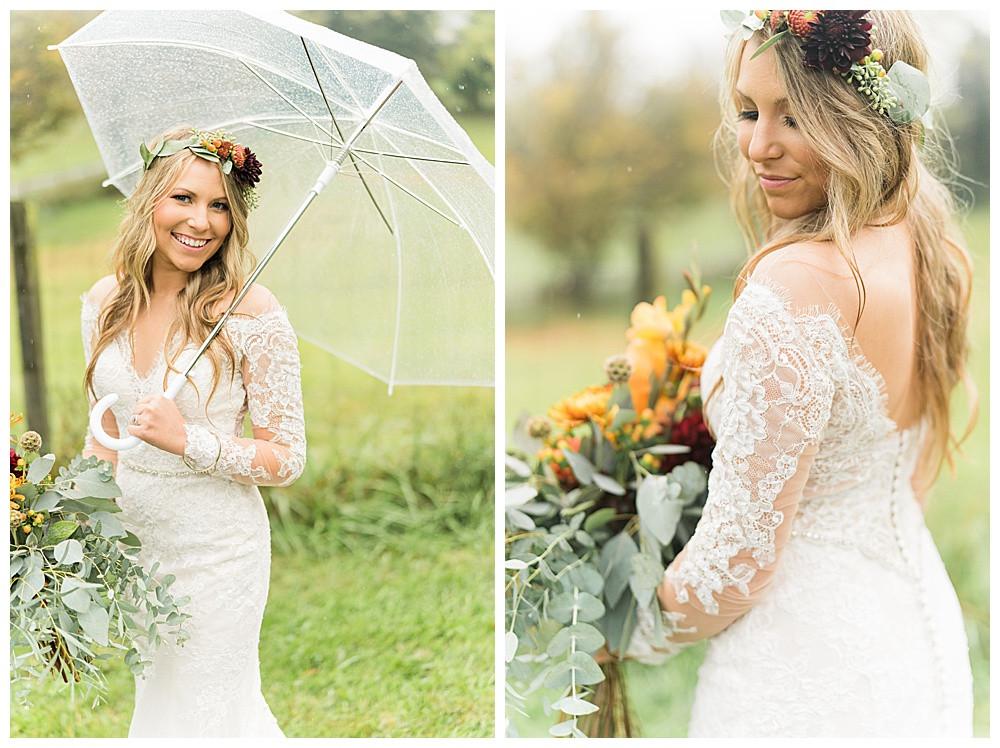 Fincastle  Virginia Wedding, 2020 wedding photographer, best of  2020 weddings, elopement, Austin & Austin Photography, Boho Bride, Rainy Wedding Day