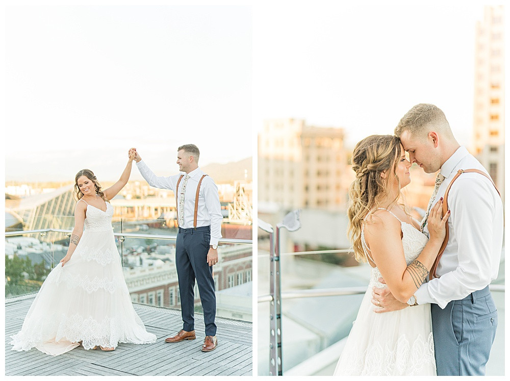 Roanoke Virginia Wedding, 2020 wedding photographer, best of  2020 weddings, elopement, Austin & Austin Photography, Penthouse Rooftop Center in the Square, Downtown Roanoke