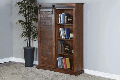 SUNNY DESIGNS Bookcase w/ Barn Door