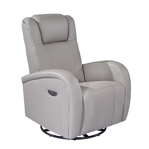 MARSEILLE POWER SWIVEL LEATHER RECLINER