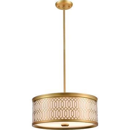DVI Tortona 2 Light Venetian Brass Pendant Ceiling Light