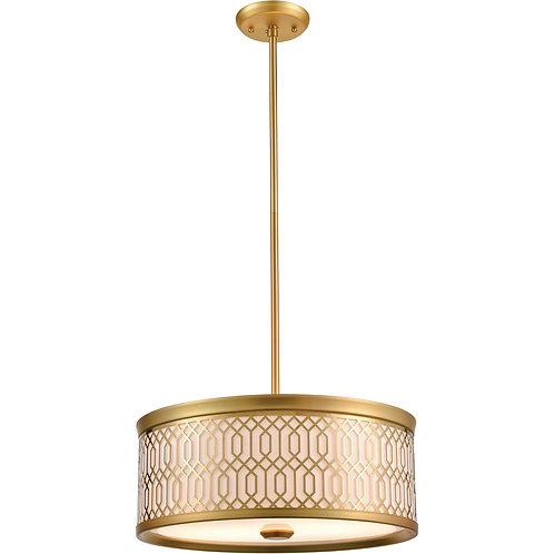 DVI Tortona 2 Light Venetian Brass Pendant Ceiling Light