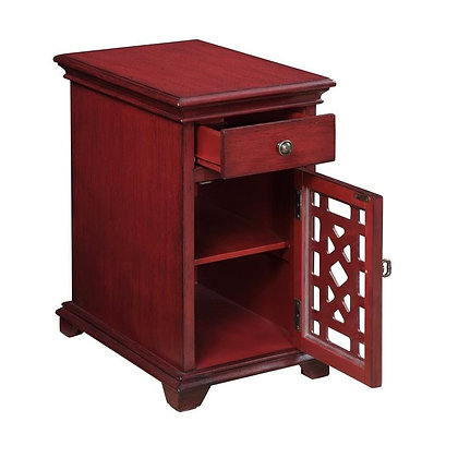 One Door One Drawer Chairside Cabinet