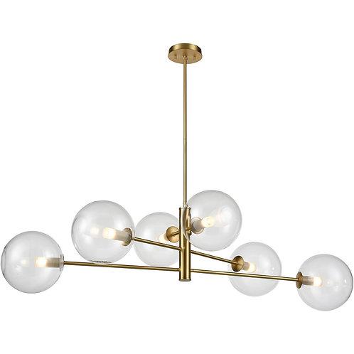 DVI Courcelette 6 Light Venetian Brass Linear