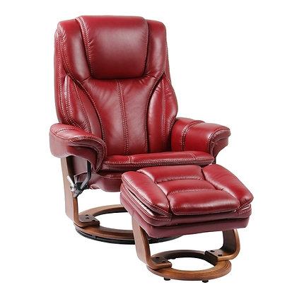 BENCHMASTER 7753WB-KM002 HANA CHAIR Ruby Red Leather
