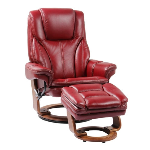 BENCHMASTER Hana Chair Ruby Red Leather
