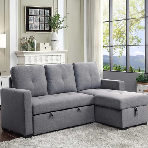 MAZIN 2 Piece Reversible Sofa bed Sectional - Grey