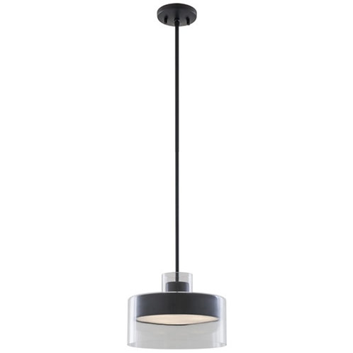 DVI Harrier 1 Light 12 inch Graphite Pendant Ceiling Light
