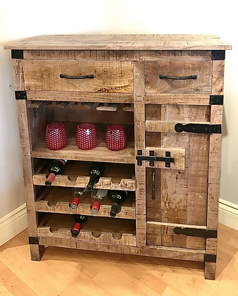 One Door Two Drawer Wine Cabinet