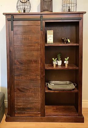 SUNNY DESIGNS Dark Chocolate Cabinet, with Barn Door