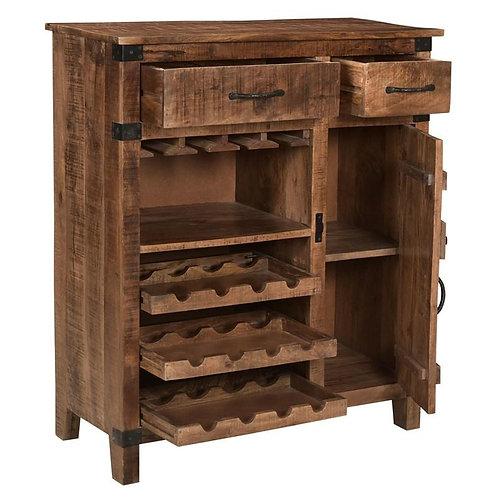KORSON One Door Two Drawer Wine Cabinet