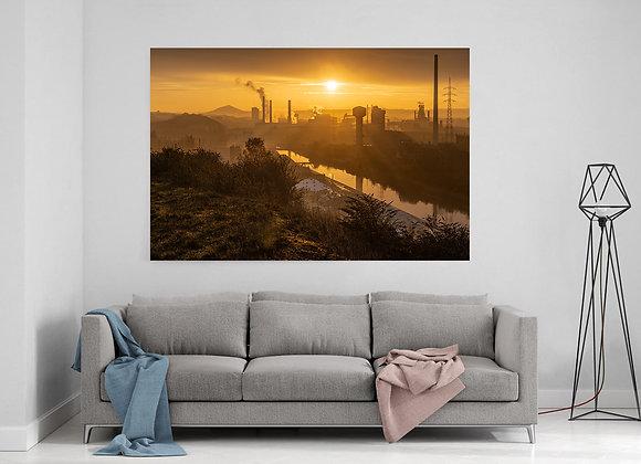 Canal Charleroi-Bruxelles au lever du jour