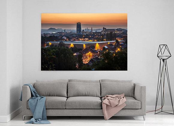 Charleroi at sunset