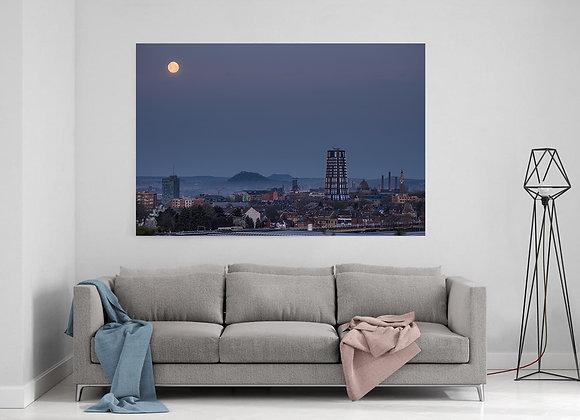 Super lune sur Charleroi