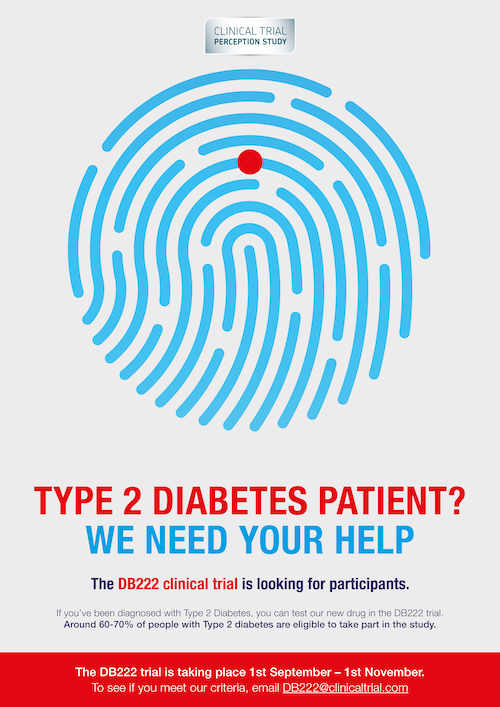 Cleverly designed diabeted clinical study poster