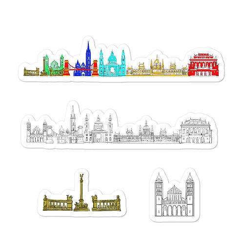 Budapest Bubble-free sticker