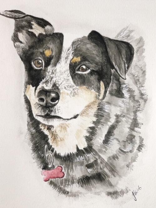 11x14 Custom Watercolor Pet Portrait