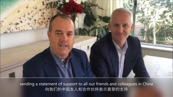 传奇影视董事会为中国抗击疫情加油