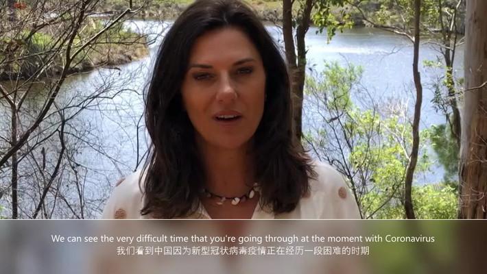传奇影视董事长布朗温•巴恩斯为中国抗击疫情加油